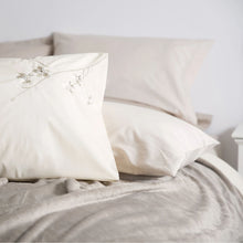 Load image into Gallery viewer, Raeya Duvet Set - Single - Duck Egg & Oyster