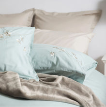 Load image into Gallery viewer, Raeya Double Duvet Set - Duck Egg