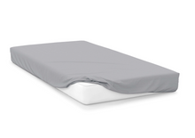 Load image into Gallery viewer, platinum  right hand bed shape egyptian cotton fitted sheet