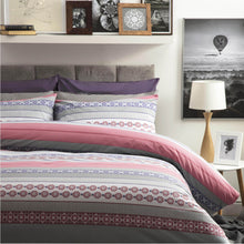 Load image into Gallery viewer, Rahil Duvet Set - Double - 4 Shapes - Pink