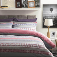 Rahil Duvet Set - Double - 4 Shapes - Pink