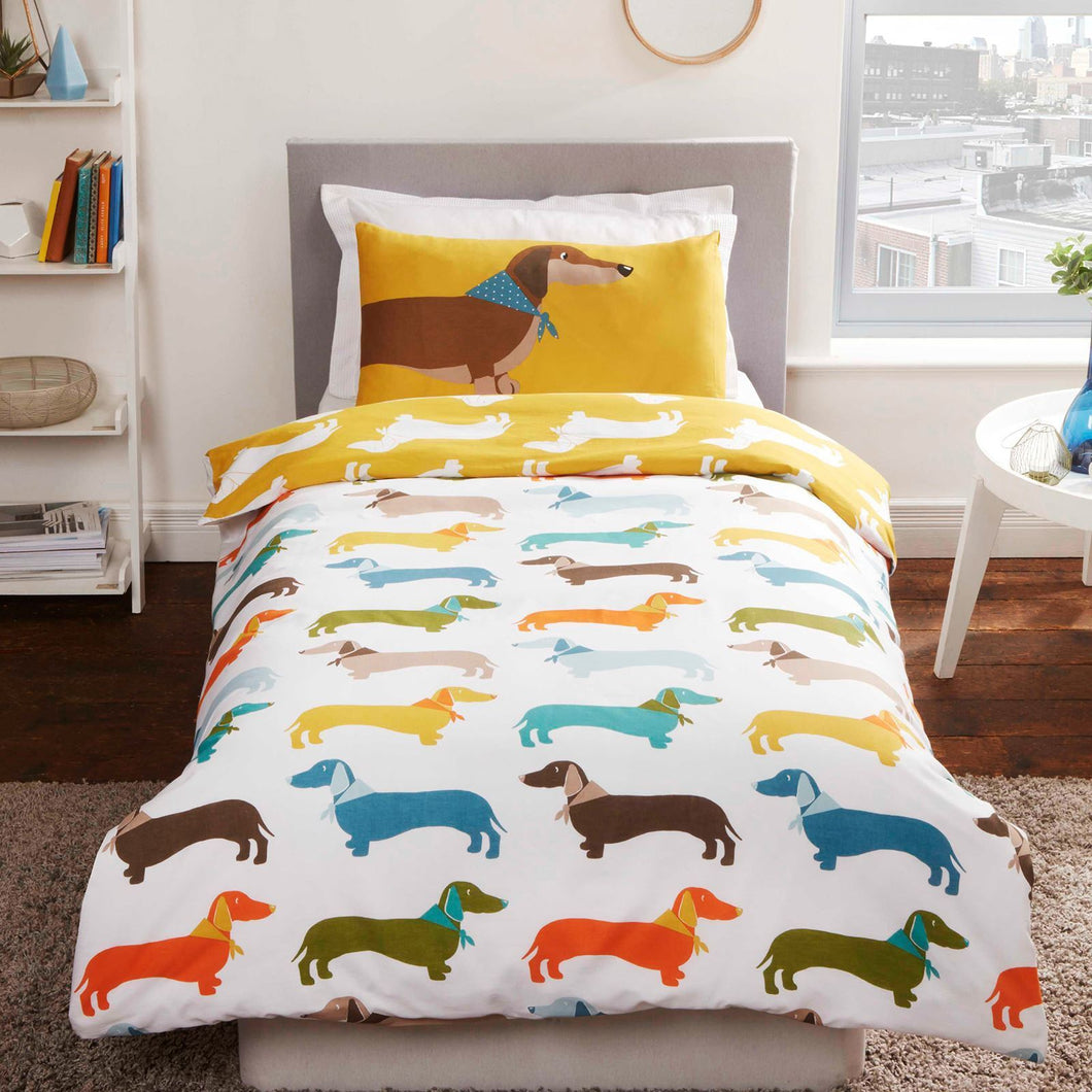 Sausage Dog Single duvet set