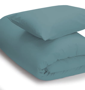 Teal coloured bedding