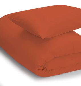 Terracotta coloured bedding