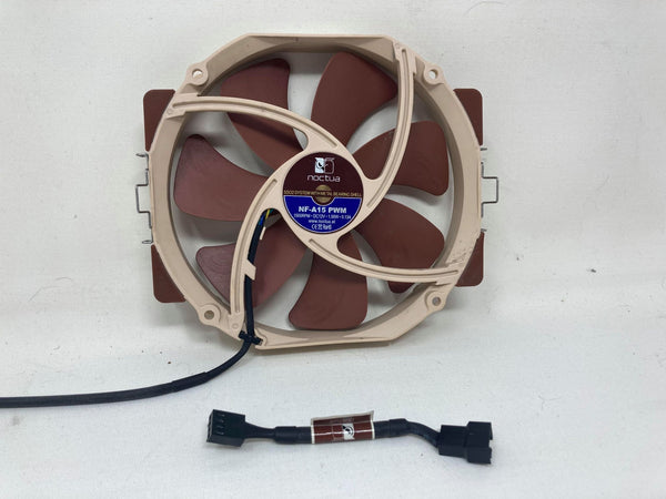 Noctua NF-A15 PWM 140mm case fan with low noise adapter