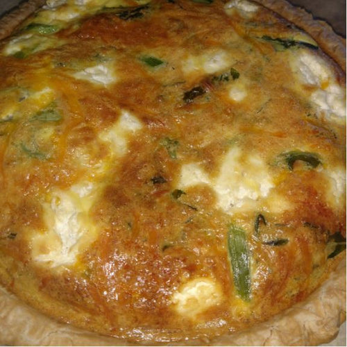 Carrot Top Kitchens - Asparagus, Goat Cheese and Cheddar Quiche