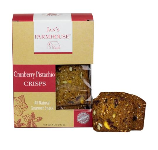 Jan's Farm House- Cranberry Pistachio Crisps