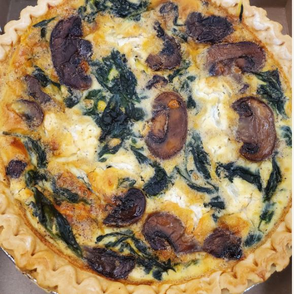 Carrot Top Kitchens - Mushroom & Spinach Quiche