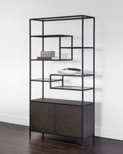 Stamos Bookcase (Black) - NicheDecor
