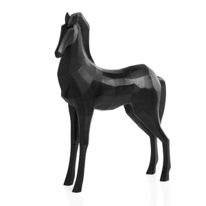 Carved Geometric Horse - NicheDecor