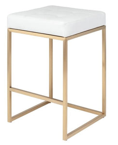 Chi Counter Stool-Gold Base - NicheDecor
