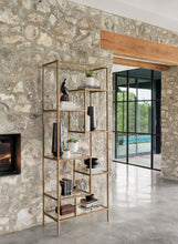 Helena Brass Bookcase - NicheDecor