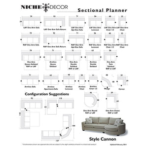 Cannon Sofa/Sectional - NicheDecor