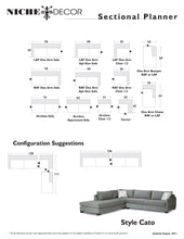 Cato Sofa/Sectional - NicheDecor