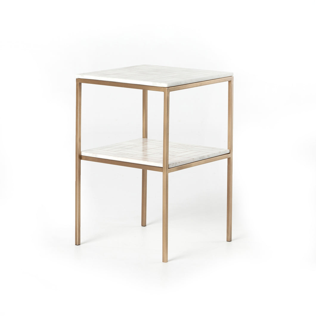 Piet Printed End Table