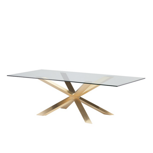CZAR GLASS DINING TABLE - NicheDecor