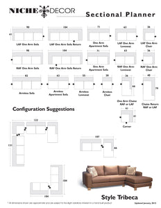 Tribeca Sofa/Sectional - NicheDecor