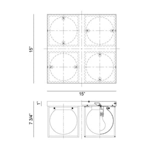 Squircle Flushmount Series - NicheDecor