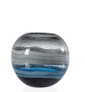 Andrea Blue Swirl Vase (3 Sizes) - NicheDecor