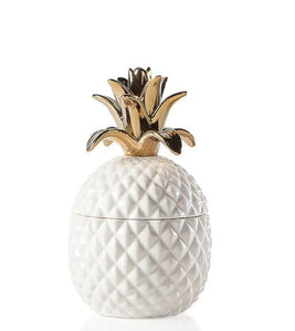 Pineapple Canister - Gold (2 Sizes) - Niche Decor