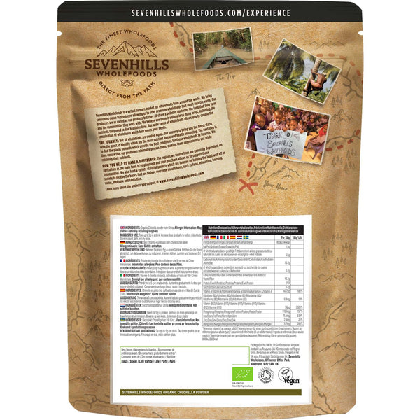 Sevenhills Wholefoods Organic Chlorella Powder - Back