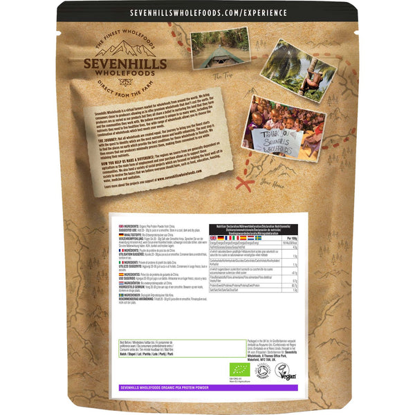 Sevenhills Wholefoods Organic Pea Protein Powder - Back