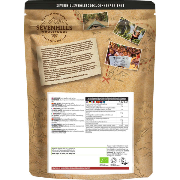 Sevenhills Wholefoods Organic Raw Camu Camu Powder - Back