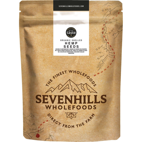 Sevenhills Wholefoods Organic Raw Shelled Hemp Seeds - Front