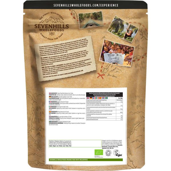 Sevenhills Wholefoods Organic Raw White Mulberries - Back