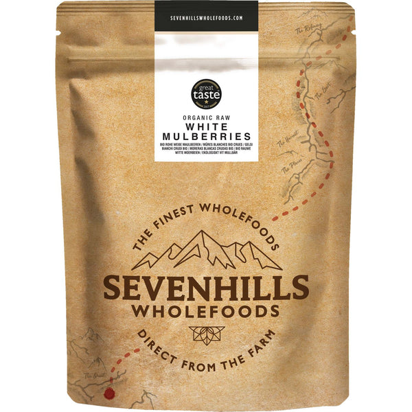 Sevenhills Wholefoods Organic Raw White Mulberries - Front