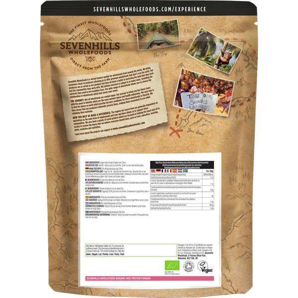Sevenhills Wholefoods Organic Rice Protein Powder - Back