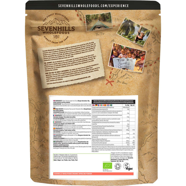 Sevenhills Wholefoods Organic Spirulina Powder - Back