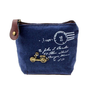 Ladies Canvas Classic Retro Small Change Coin Purse Little Key Car Pouch Money Bag Cheapest Girl's Mini Short Coin Holder Wallet