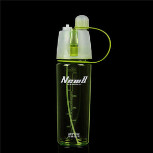 WEST BIKING Creative Button Water Bottle Mist Spray Bottle Cup Portable Atomizing Cups Sports Sprayer Bottle Climbing Cycling