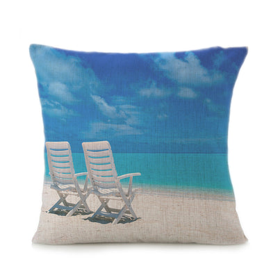 Beach Sofa Bed Home Decoration Festival Pillow Case Cushion Cover