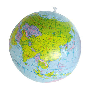 Inflatable Globe Education Geography Toy Map Balloon Beach Ball 40cm