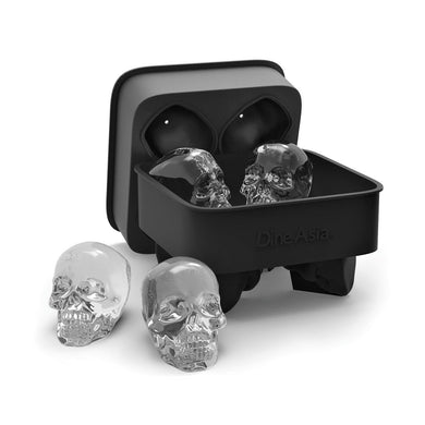 3D Skull Flexible Silicone Ice Cube Mold Tray