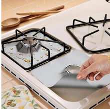 Load image into Gallery viewer, Reusable Foil Gas Hob Range Stove top Burner Protector Liner Cover