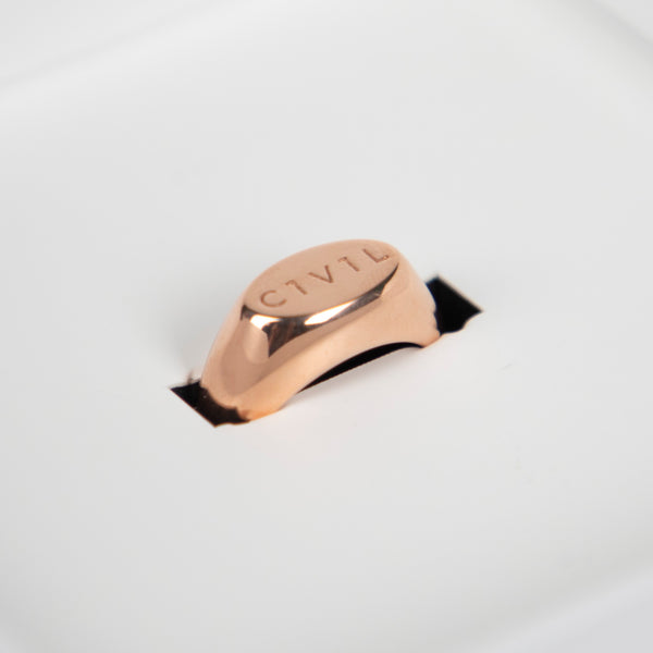 Civil Pave Small Signet Ring