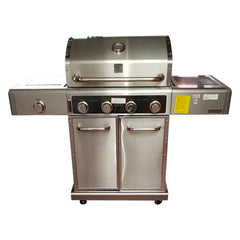 Parrilla Elite 4 Quemadores Doble Combustible + Quemador Lateral 33579