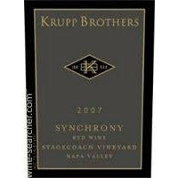 Krupp Brothers 'Synchrony' Red Blend Stagecoach Vineyards Napa Valley California 2015