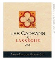 Chateau Les Cadrans de Lassegue Bordeaux blend Saint-Emilion 2016
