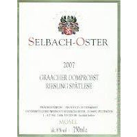 Selbach_Oster Graacher Domprobst   Riesling Spatlese Halbtrocken Germany  Mosel 2005