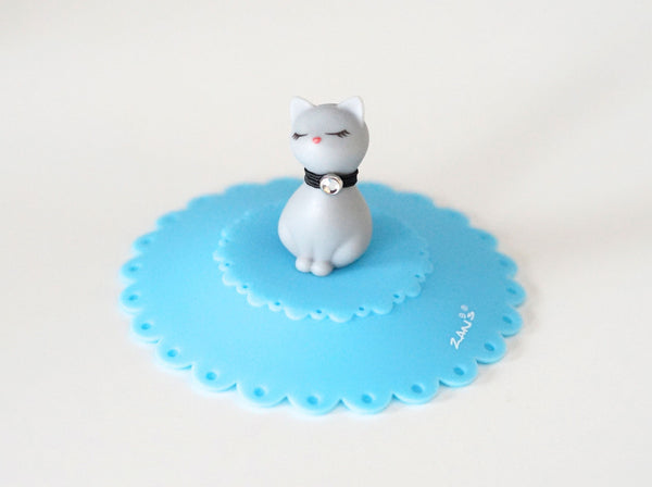 Grey Cat Silicone Cup Cover