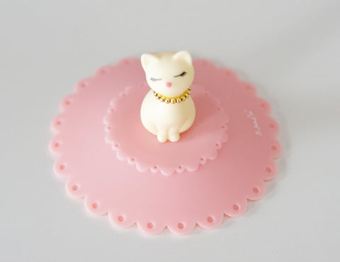 White Cat Silicone Cup Cover