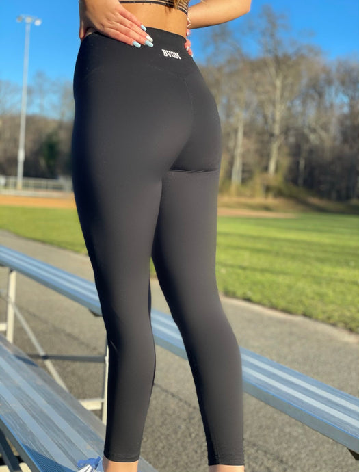 Matte Black Leggings