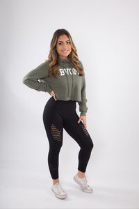 Crop  Fleece Sweater