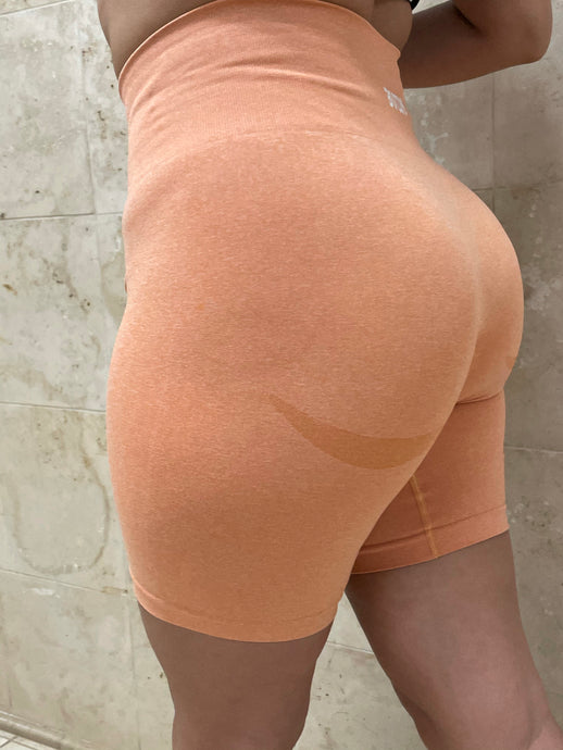 Peach Seamless Biker Shorts