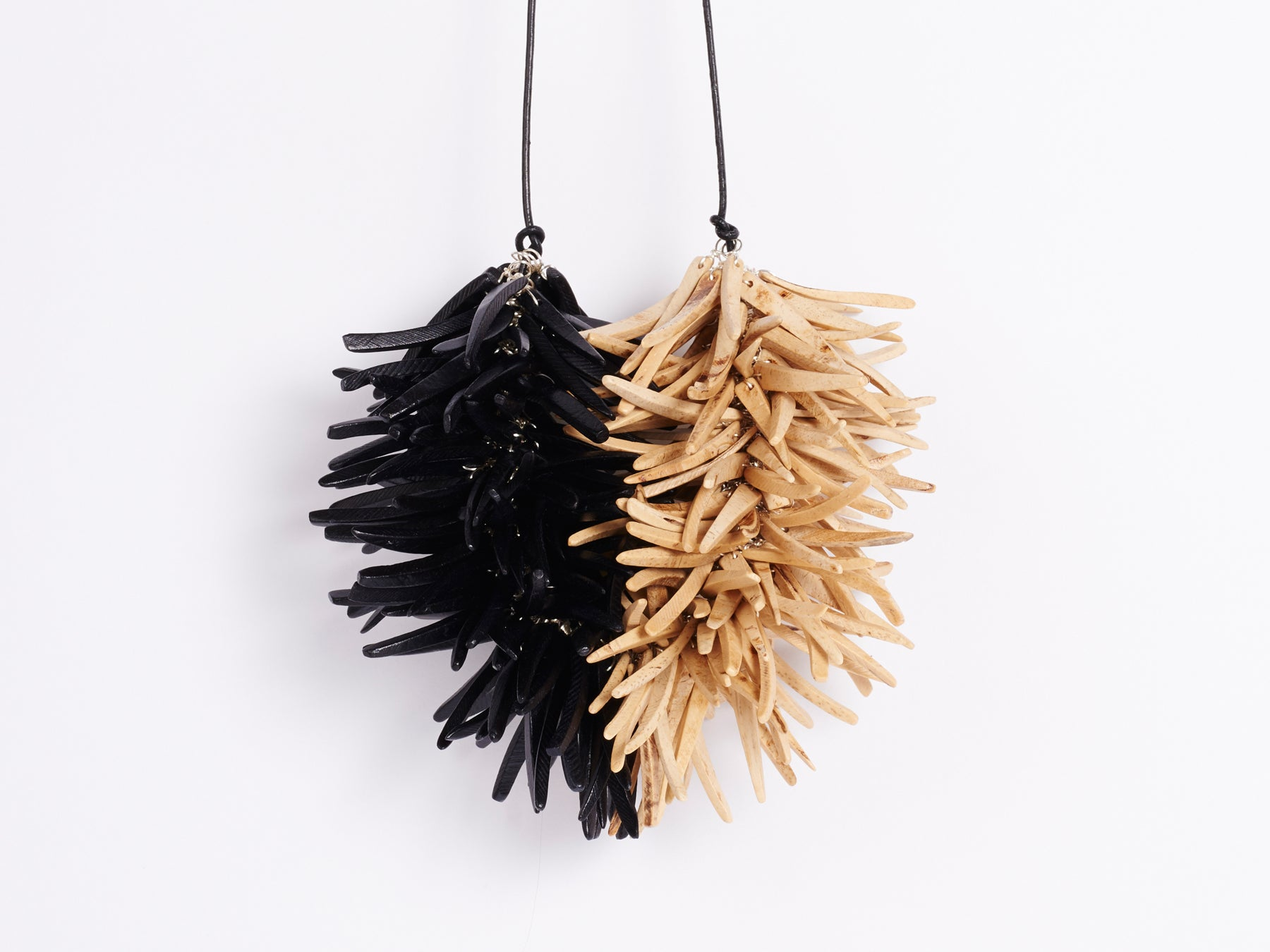 Urchin choker - Black | Natural