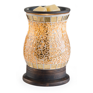 Wax Warmer Gilded Glass